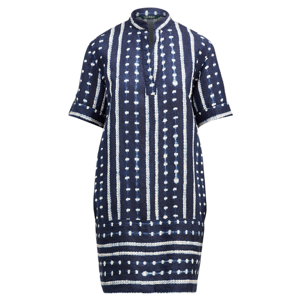 Ralph Lauren Linen-Blend Shift Dress Multi 6