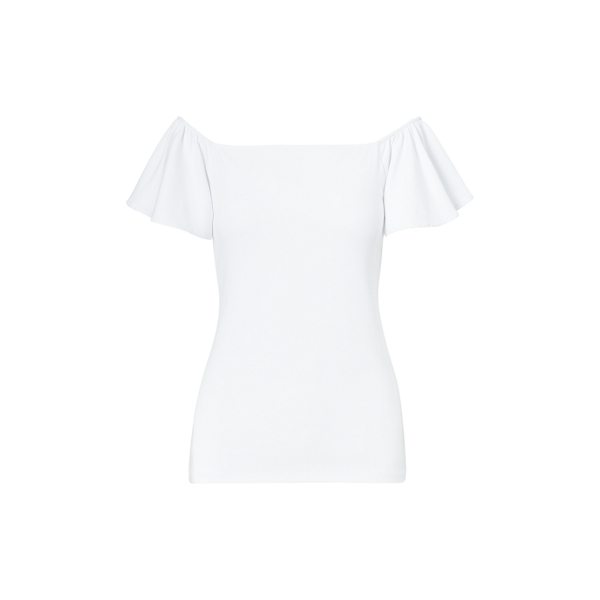 Ralph Lauren Jersey Off-The-Shoulder Top White M
