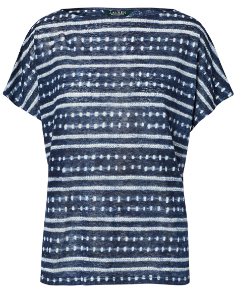 Tie-Dye Linen Knit Top