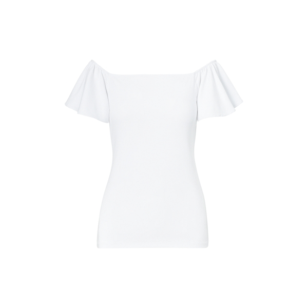 Ralph Lauren Jersey Off-The-Shoulder Top White Lp