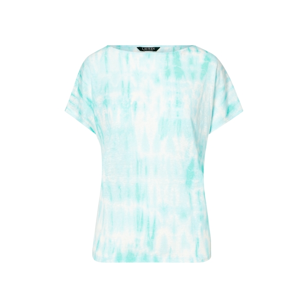 Ralph Lauren Tie-Dye Linen Knit Top Multi Sp