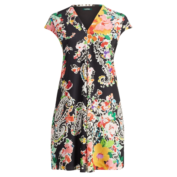Ralph Lauren Floral-Print Dress Black Multi 16