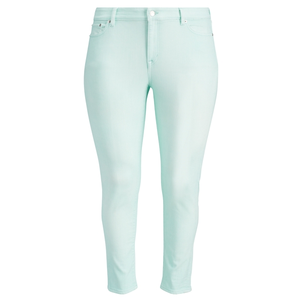 Ralph Lauren Premier Cropped Skinny Jean Light Aquamarine Wash 16