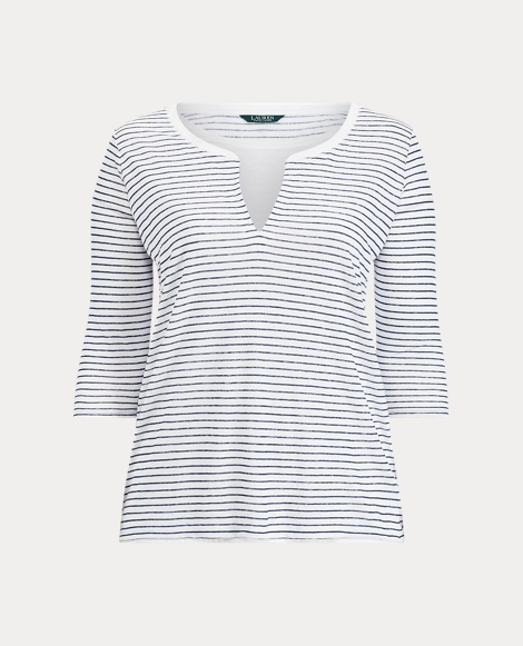 Striped Linen Jersey Shirt