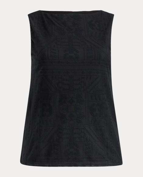 Geometric-Embroidered Tank