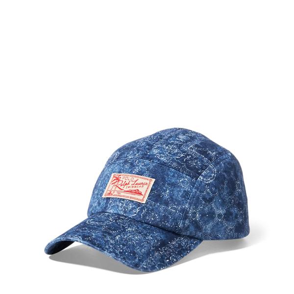 Ralph Lauren Bandanna-Print Twill Camp Hat Indigo Bandana One Size