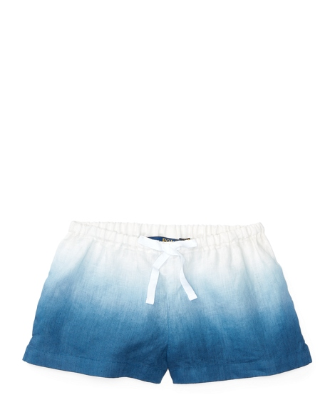 Dip-Dyed Linen Pull-On Short