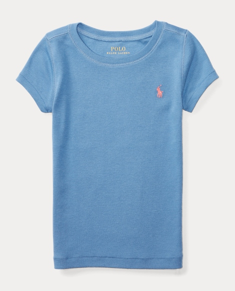 Cotton-Blend Crewneck Tee