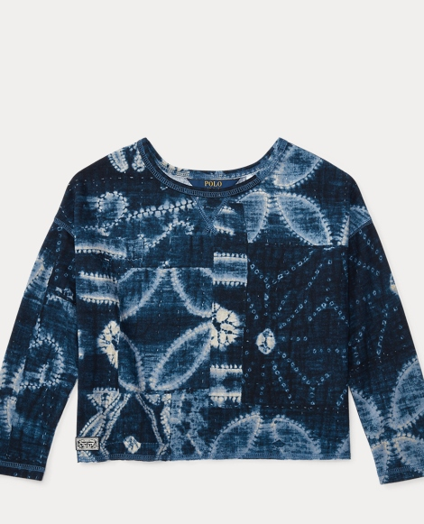 Patchwork Cotton Mesh Pullover