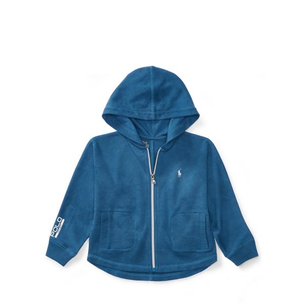 Ralph Lauren Batwing Terry Full-Zip Hoodie Indigo Blue L