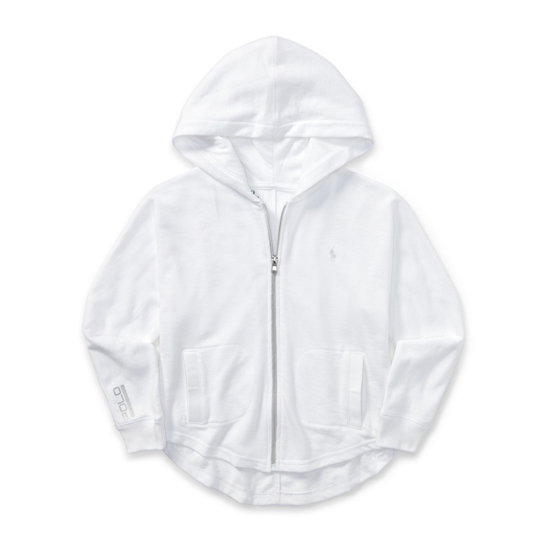 Ralph Lauren Batwing Terry Full-Zip Hoodie White L