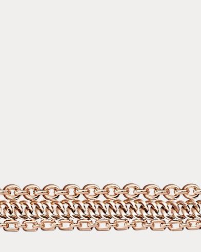 Rose Gold 3-Chain Bracelet
