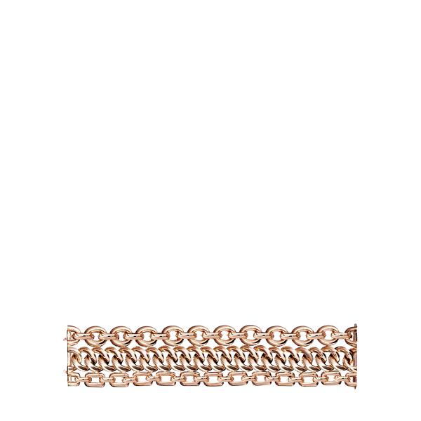 Ralph Lauren Rose Gold 3-Chain Bracelet Rose Gold M