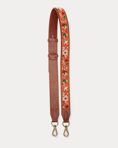 Floral Leather Strap