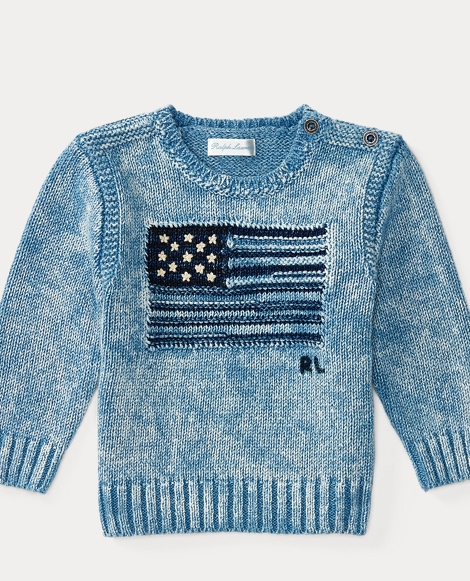 Flag Indigo Cotton Sweater