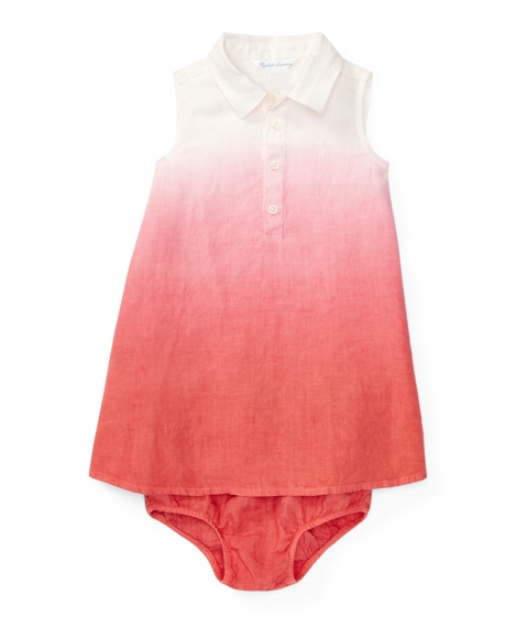 Dip-Dyed Linen Dress & Bloomer