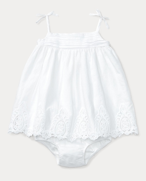Lace-Trim Dress & Bloomer