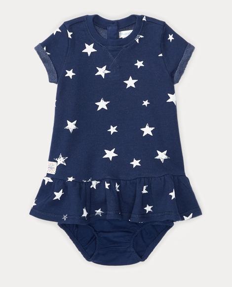 Star-Print Dress & Bloomer