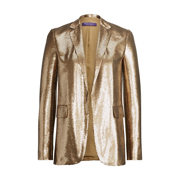 Ralph Lauren Tess Sequined Silk Jacket Sahara 8
