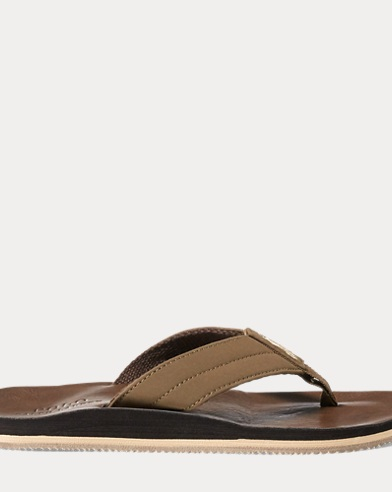 Faux-Leather Flip-Flop Sandal