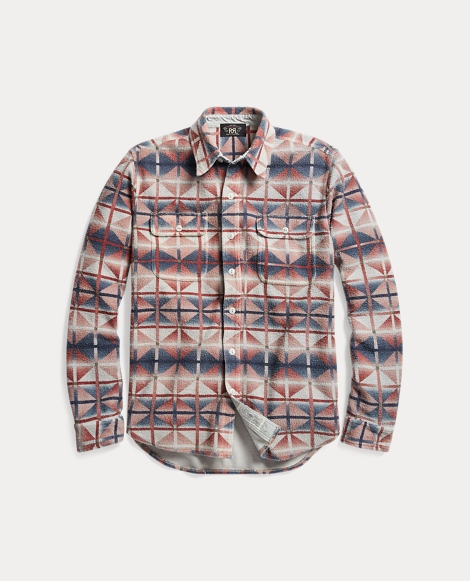 Printed Cotton Terry Workshirt