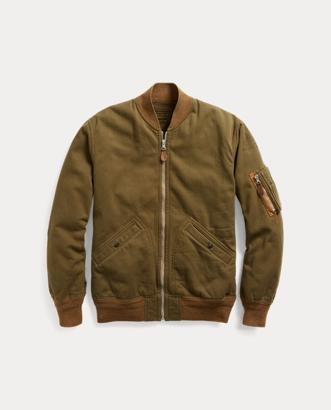 Cotton Twill Bomber Jacket