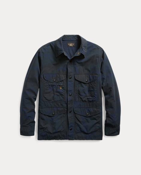 Camo Cotton-Blend Shirt Jacket