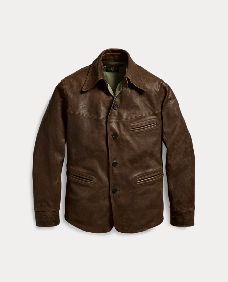 Leather Car Coat