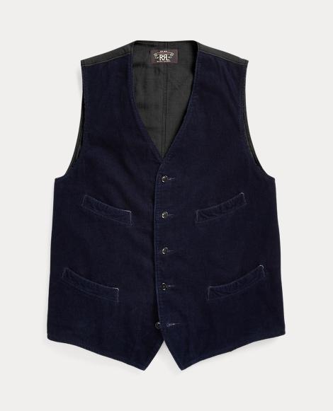 Indigo Cotton Corduroy Vest