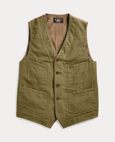 Cotton Blend-Twill Vest