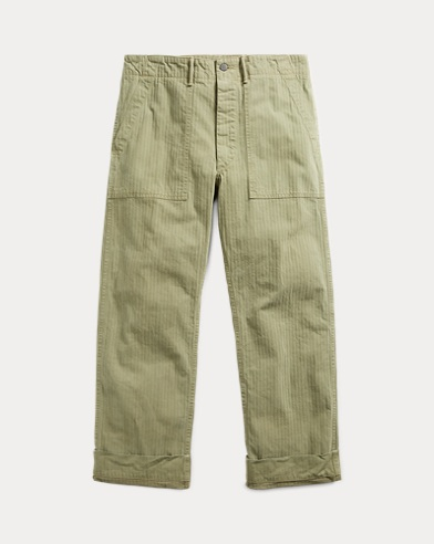 Cotton Herringbone Pant