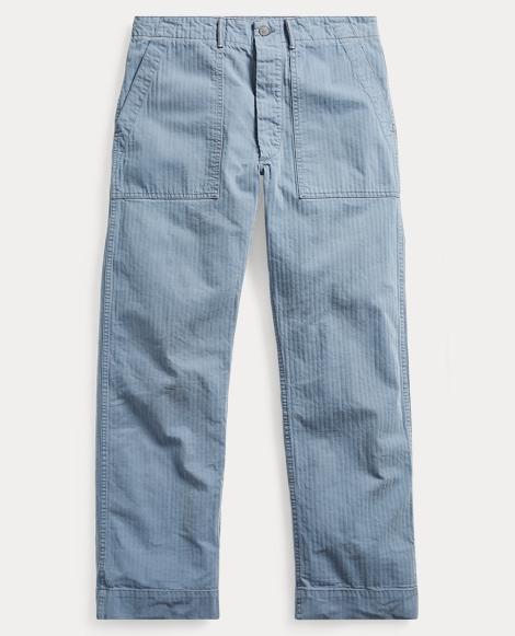 Cotton Herringbone Pant