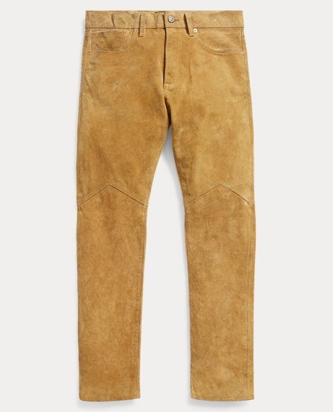 Slim Fit Roughout Suede Pant