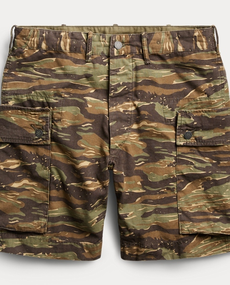 Camo Cotton Cargo Short