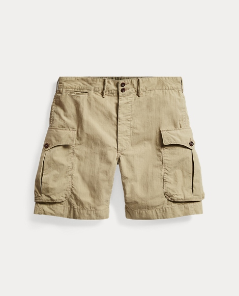 Cotton-Blend Cargo Short