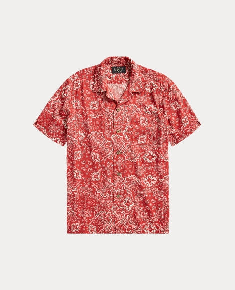 Bandanna-Print Camp Shirt