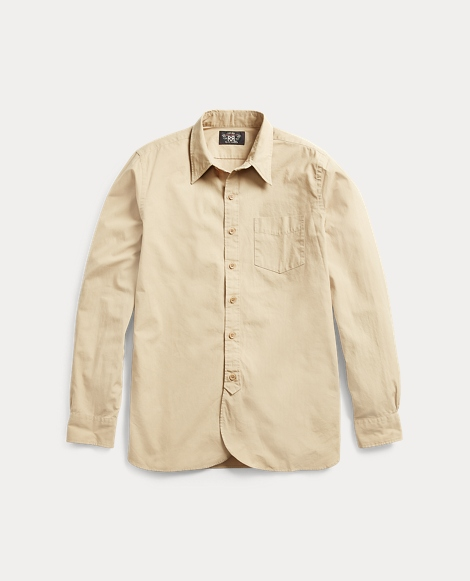 Cotton Poplin Military Shirt