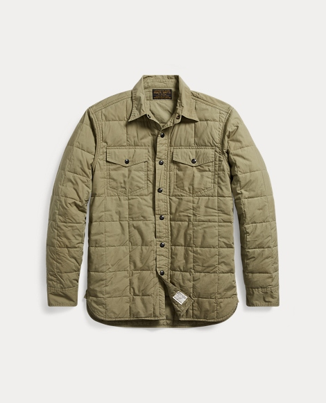Quilted Cotton Shirt Jacket