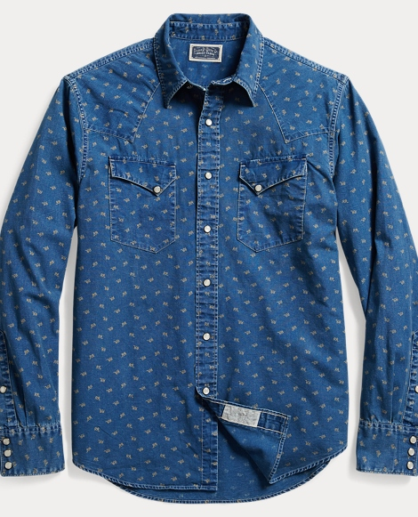 Indigo Cotton Western Shirt