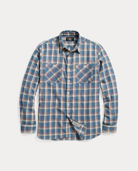 Plaid Cotton Twill Workshirt