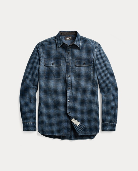 Indigo Plaid Cotton Workshirt