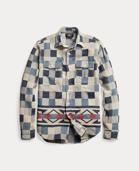 Cotton Jacquard Shirt Jacket