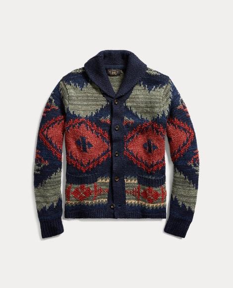 Hand-Knit Linen-Blend Cardigan