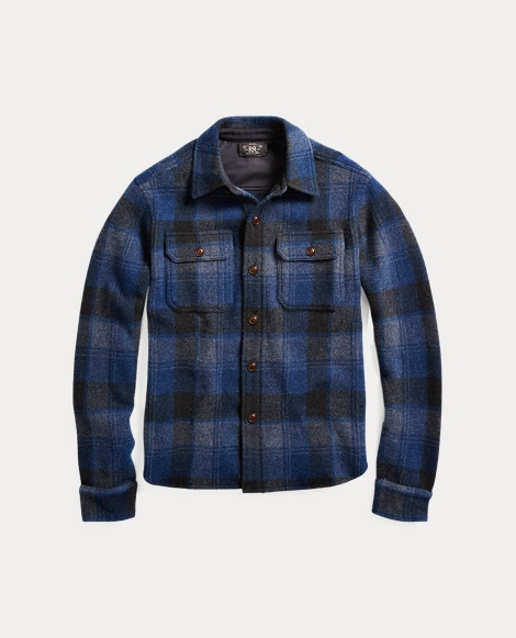 Plaid Wool-Cashmere Workshirt