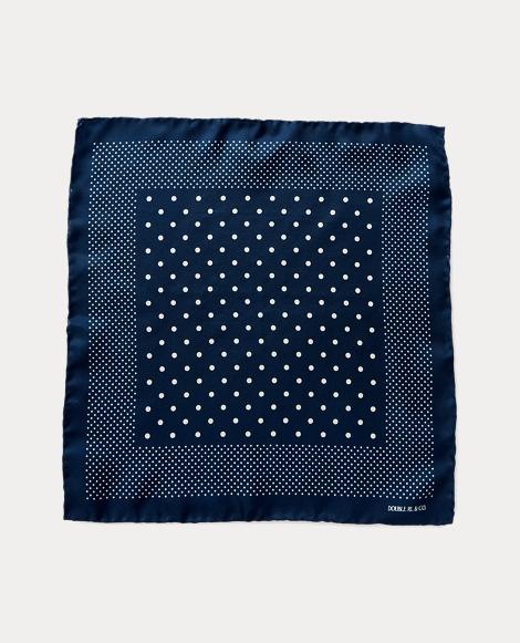 Dot-Print Silk Pocket Square