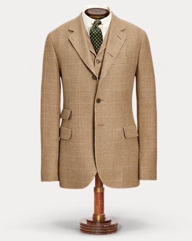 Linen-Blend Tweed Suit Jacket