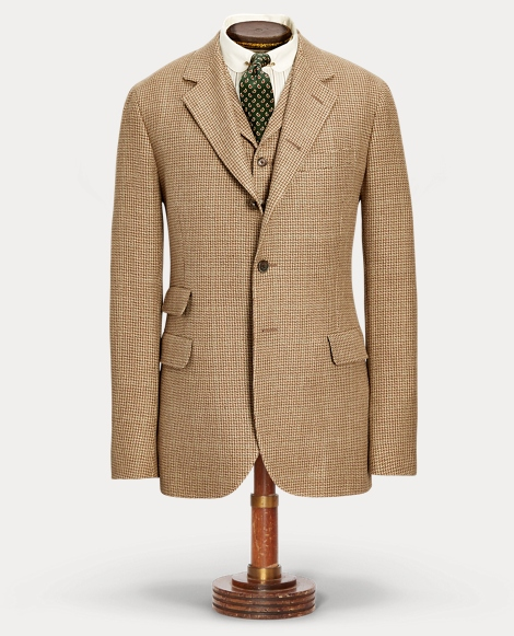 Linen-Blend Tweed Suit Jacket