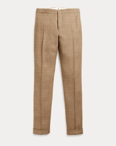 Linen-Blend Tweed Trouser
