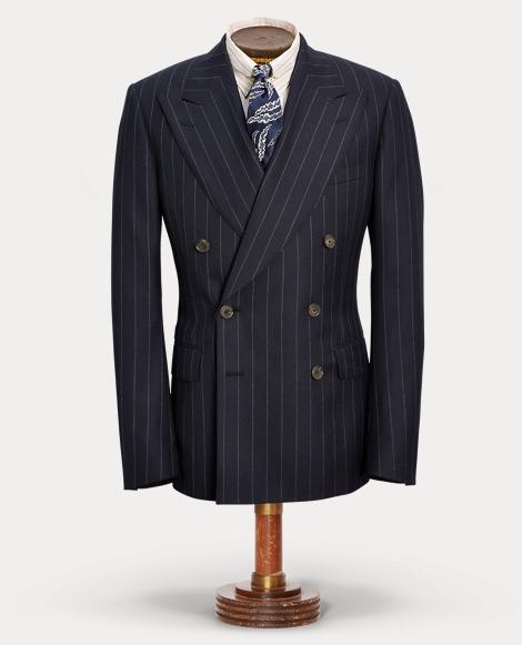Chalk-Stripe Wool Suit Jacket