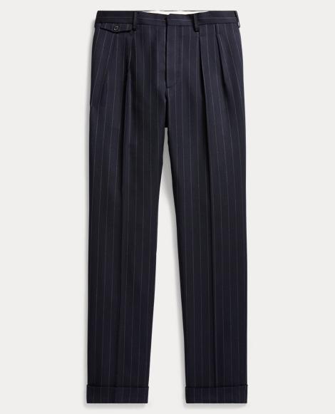 Slim Chalk-Stripe Wool Trouser
